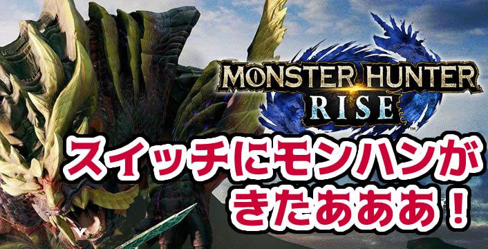 3852【最安値予約・特典】モンスターハンターライズ・Switchで発売!