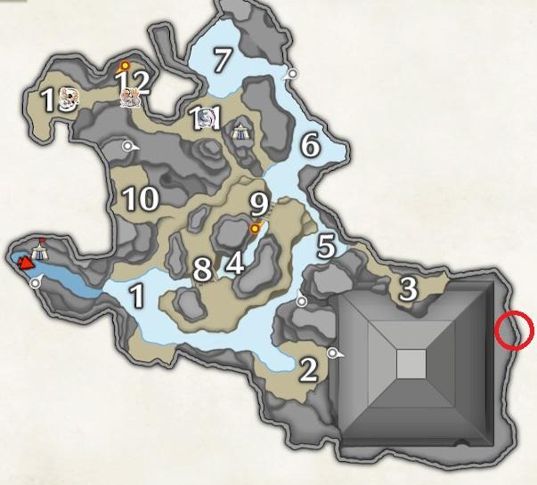 水没林のマップ