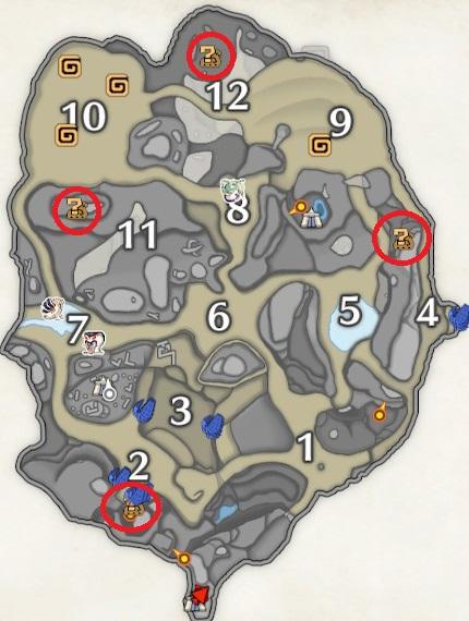 砂原のマップ